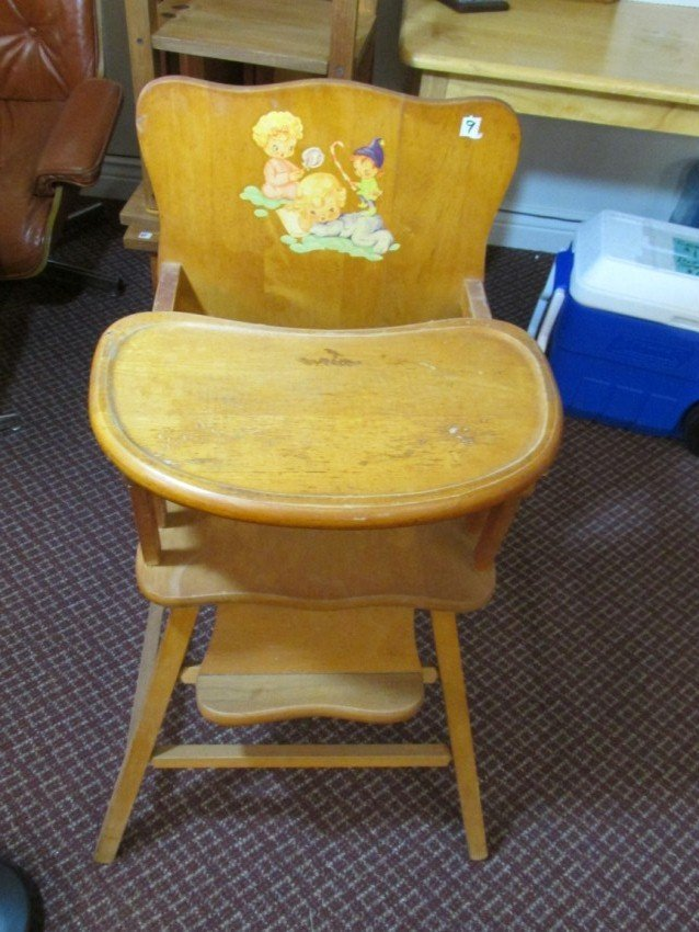 Kids Wooden High Chair