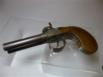 c. 1850 double barrel pistol.