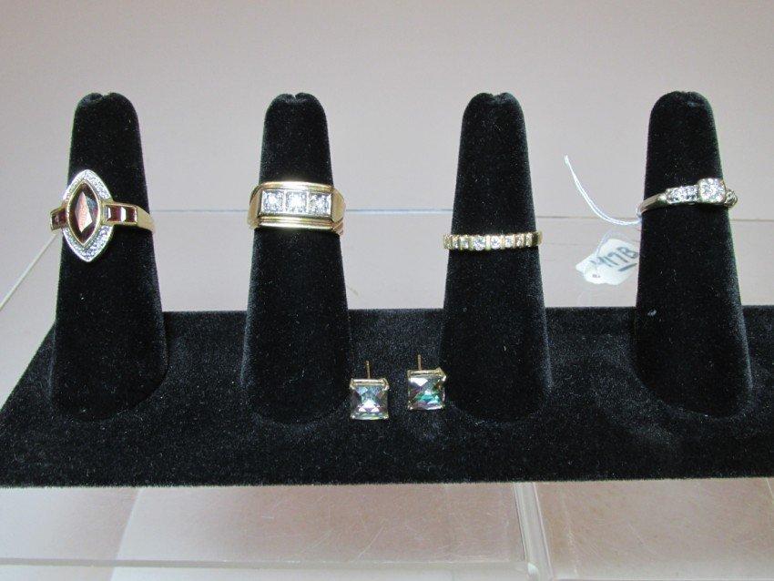 Group lot of 14k and 10k gold rings, earrings