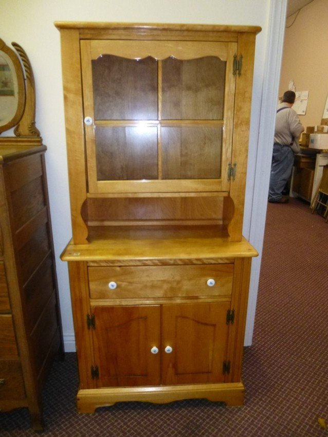 2-piece pine step-back cupboard