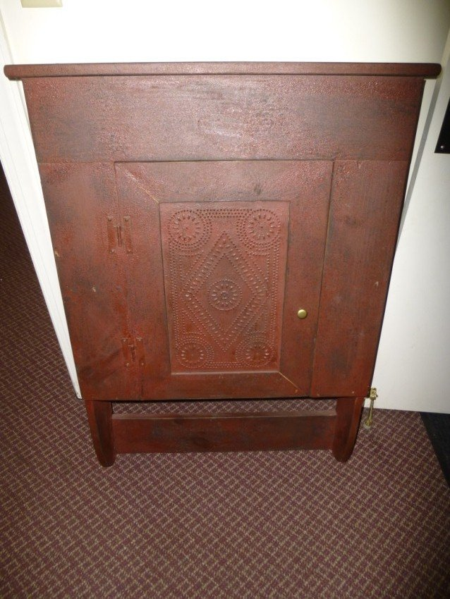 Primitive-style wall cabinet