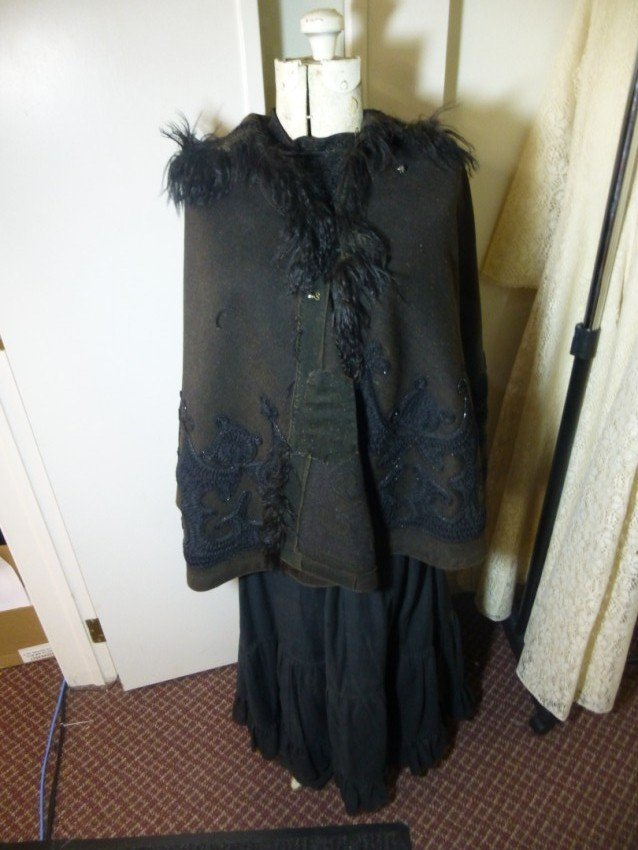 Dress form with Victorian Dress