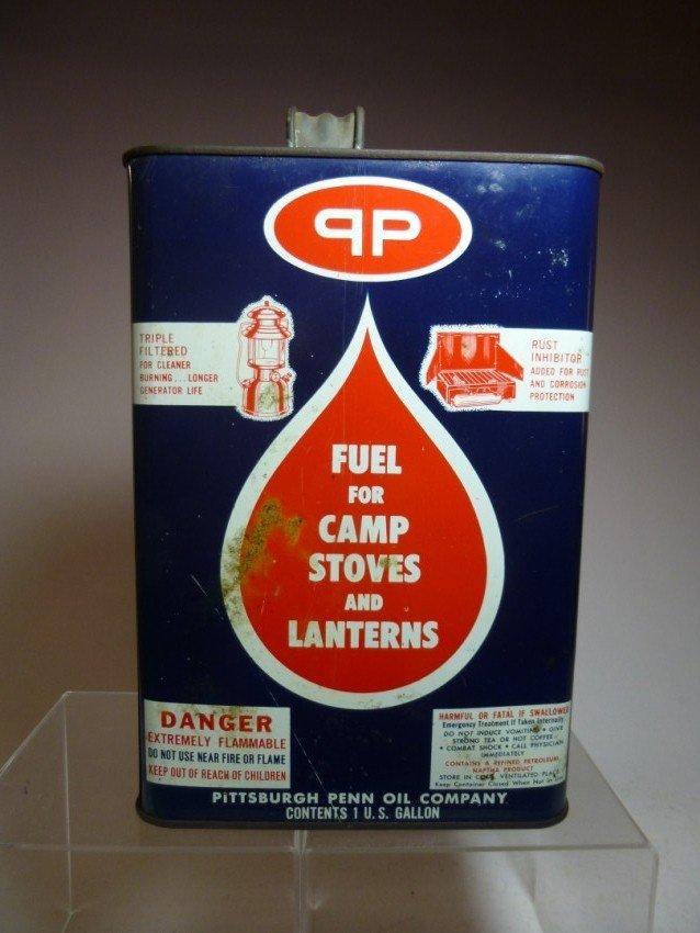 Vintage stove and lamp tin jug