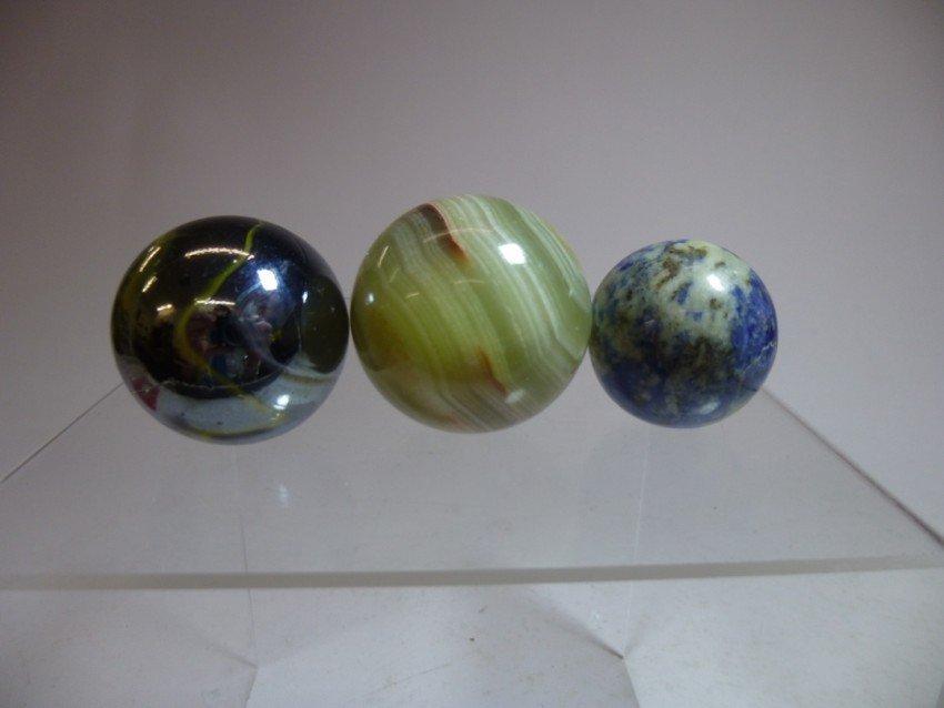 3 vintage marbles