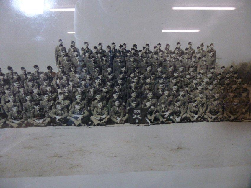 Framed military photo
