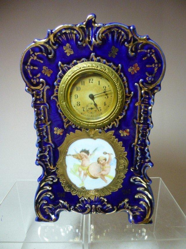 Vintage Clock in Ceramic Case