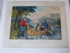 Currier  Ives Original Life of Sportsman print