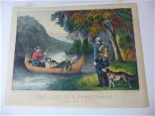 Currier  Ives original print