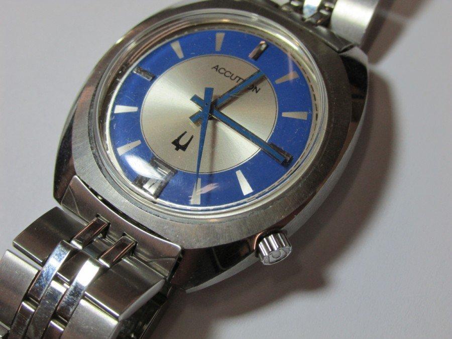 2 Rare Bulova Accutron Watches w/Blue Faces - 2