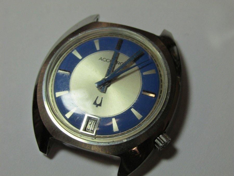 2 Rare Bulova Accutron Watches w/Blue Faces - 3