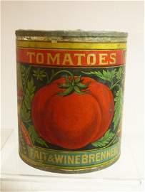 Antique Tomato Tin