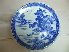 Chinese Export Blue Ceramic Plate