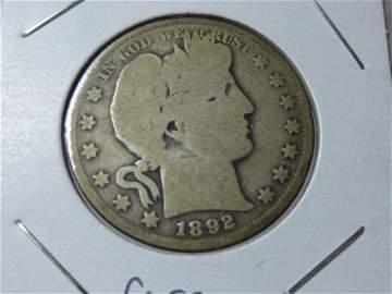 Rare 1892-O Barber half dollar coin