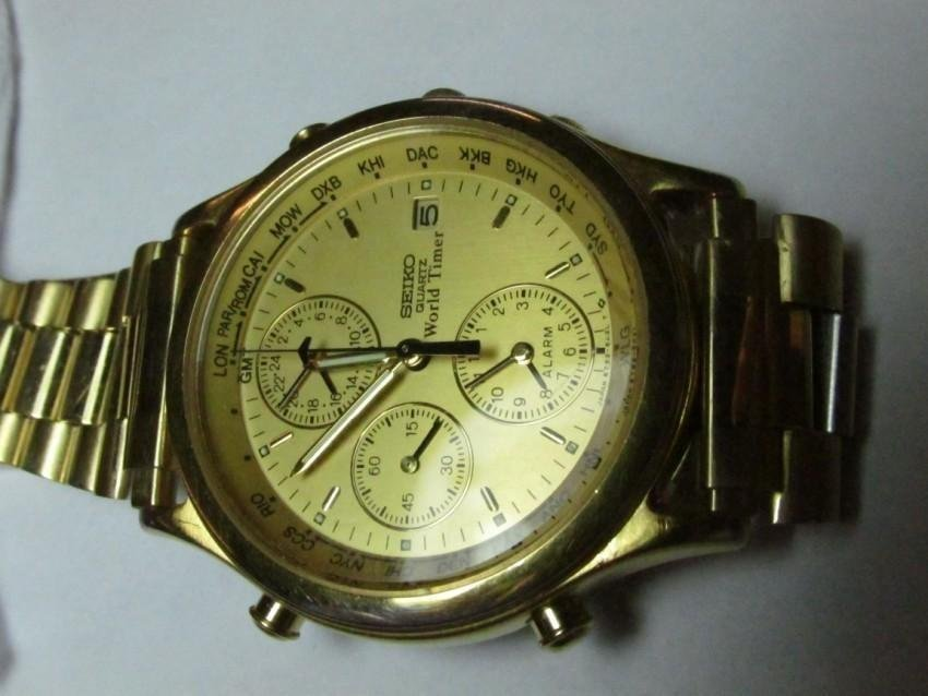 Seiko Quartz World Timer Watch - 2