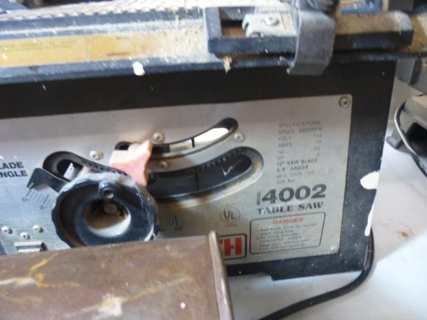 Pro-Tech 4002 Table Saw - 2