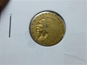 Nice 1914 $ 2 1/2 Gold Coin