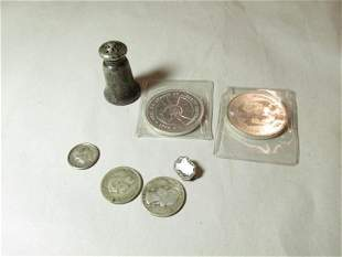 Group lot of Sterling, Pure Silver and Coins