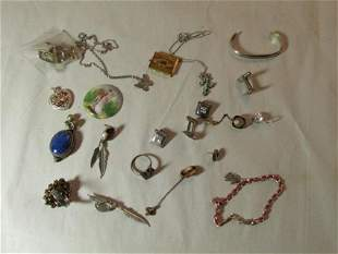 Group lot of better jewelry including Sterling Silver,