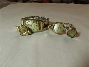 Group lot of vintage, antique lady's watches