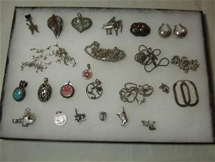 Large Group Lot of Nice Sterling Silver Jewelry