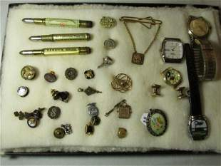 Large lot of gold filled, vintage costume jewelry