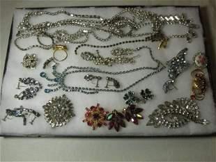Very nice lot of Rhinestone Jewelry