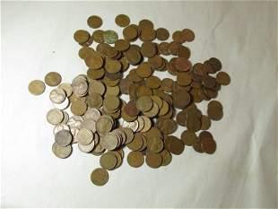 Large lot 200 Various Wheat Cent Pennies
