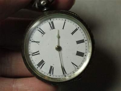 Fine 935 Silver Swiss Pocket Watch