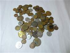 Large group lot of old mostly US coins