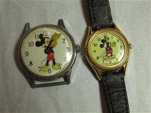 Two vintage Mickey Mouse watches
