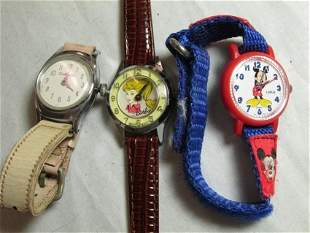 Group lot of vintage kids watches