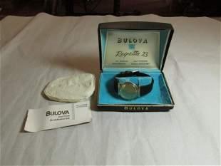 Vintage Men's Bulova Men's Watch in box