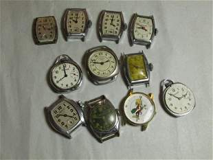 Large group lot of men's vintage watches