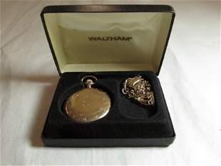 Vintage Waltham Men's Pocket Watch w/chain