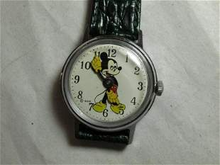 Vintage Mechanical Mickey Mouse Watch