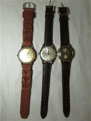 Group lot of 3 Mechanical Men's Watches