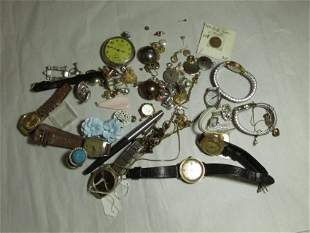 Large lot of mostly vintage watches