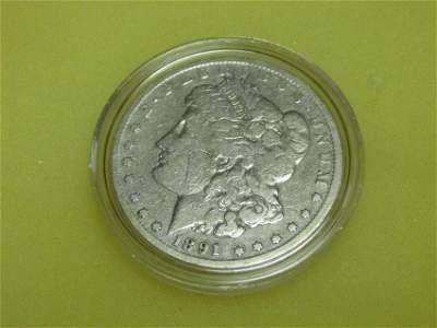 Nice 1891 Carson City Morgan Dollar Coin