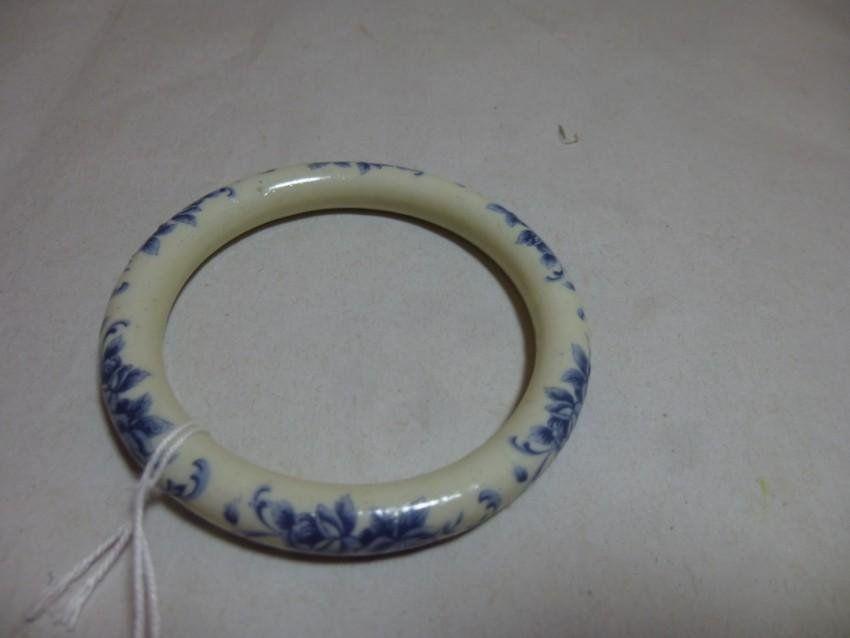 Vintage Blue Ceramic Bracelet