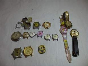 Large group lot of vintage watches