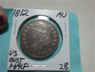 1812 Bust Half Dollar Coin