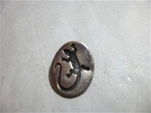 Sterling Silver Mexico Gecko Pendant