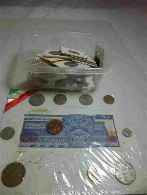 Large Group lot of foreign coins