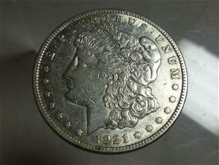 1921 Morgan Dollar Silver Coin