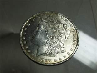 1897 Morgan Dollar Silver Coin