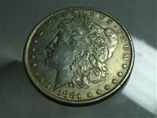 1881 Morgan Dollar Silver Coin