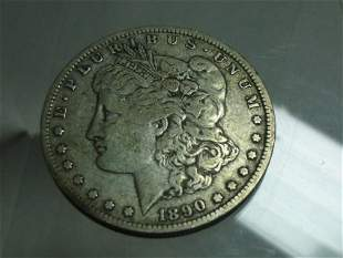 1890-O Morgan Dollar Silver Coin