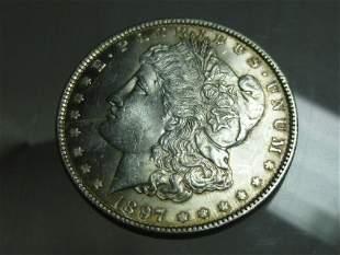 1897Morgan Dollar Silver Coin