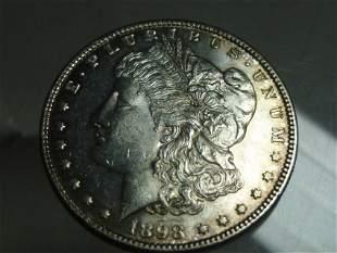 1898 Morgan Dollar Silver Coin