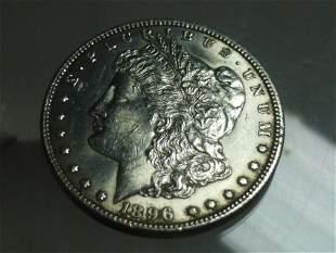 1896 Morgan Dollar Silver Coin